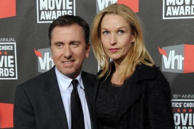 Тим Рот с женой