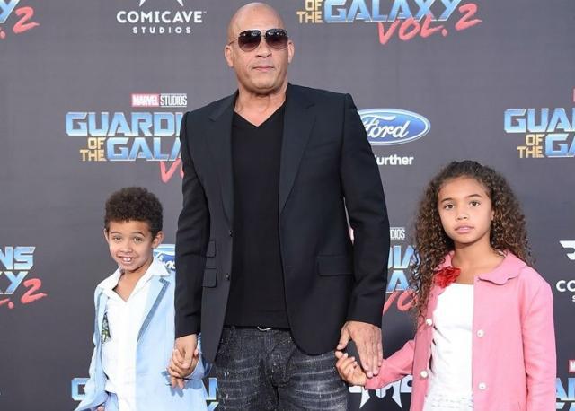 Вин Дизель с сыном и дочкой