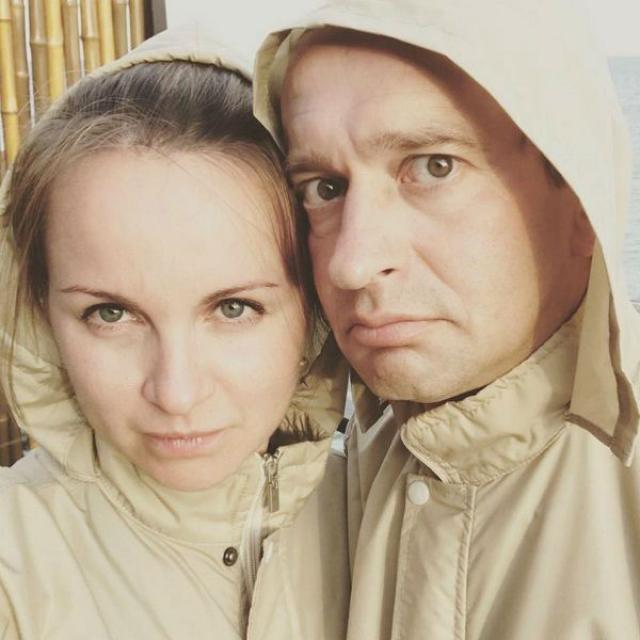 Константин Хабенский и жена Ольга