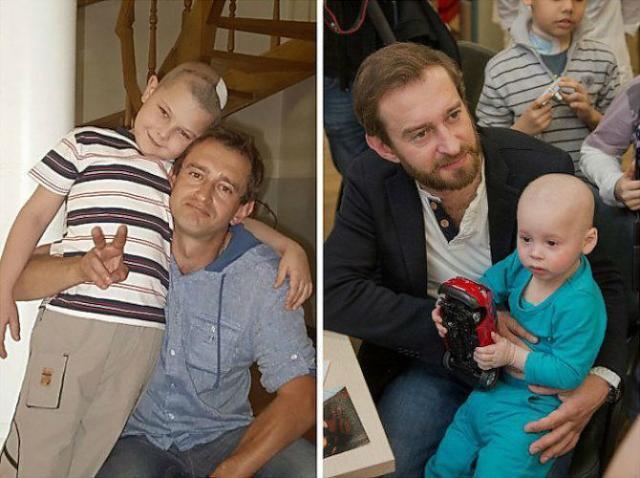 Константин Хабенский с больными детьми