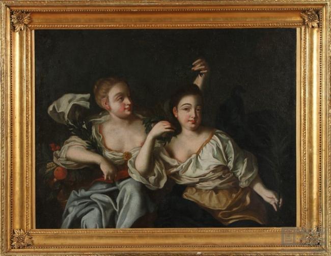 Дочери Петра 1 Анна и Елизавета Первая