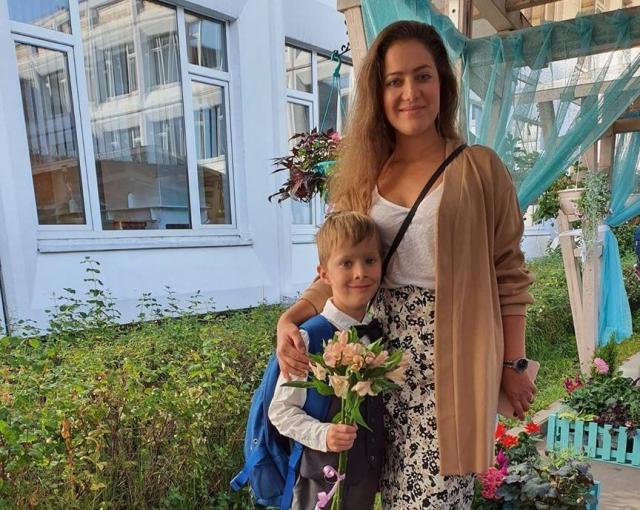 Полина Шпилева с сыном