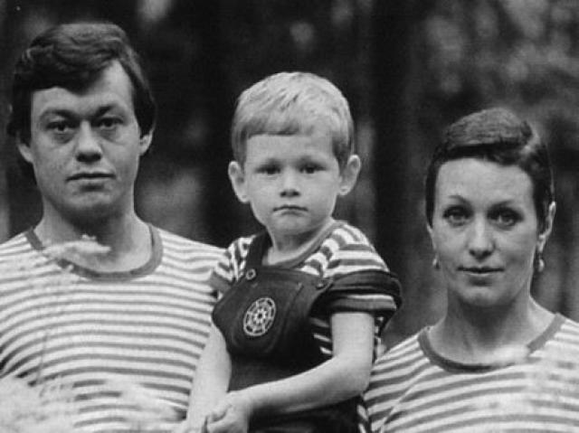 Людмила Поргина с мужем и сыном в молодости