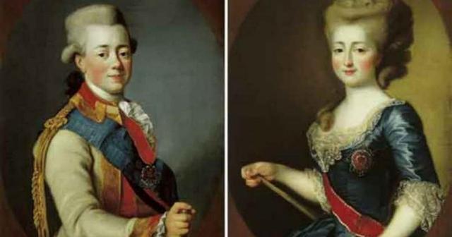 Павел Первый и Мария Федоровна