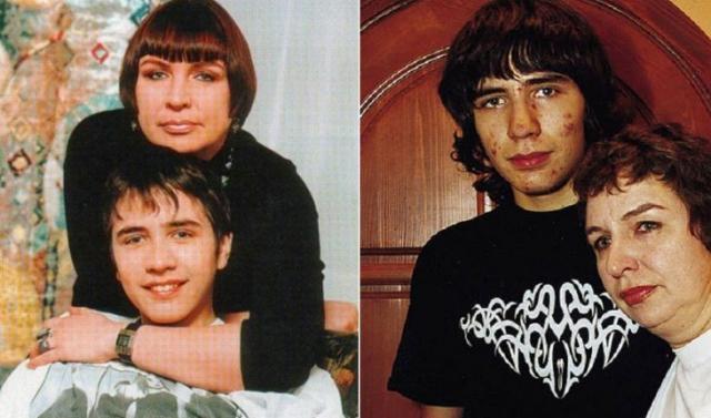 Александр Цой с мамой