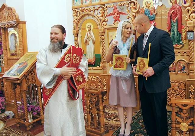 Венчание супругов Емельяненко