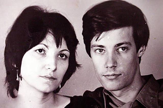 Владимир Конкин с женой Аллой в молодости