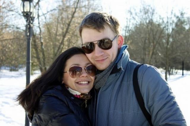 Алексей Демидов с женой
