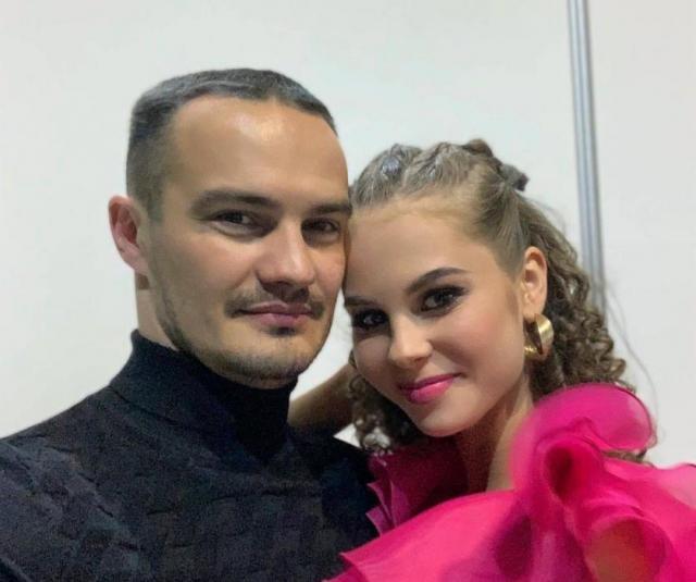 Дарья Палей с мужем