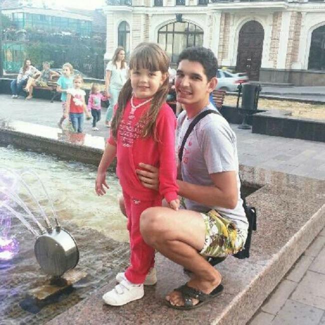 Илья Швец с дочерью