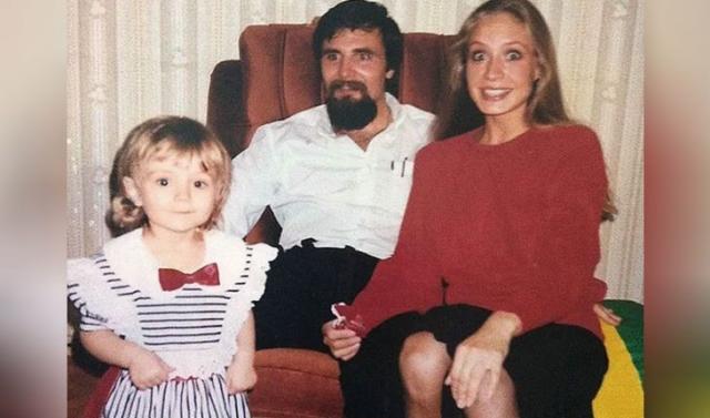 Полина Гагарина с матерью и отцом в детстве