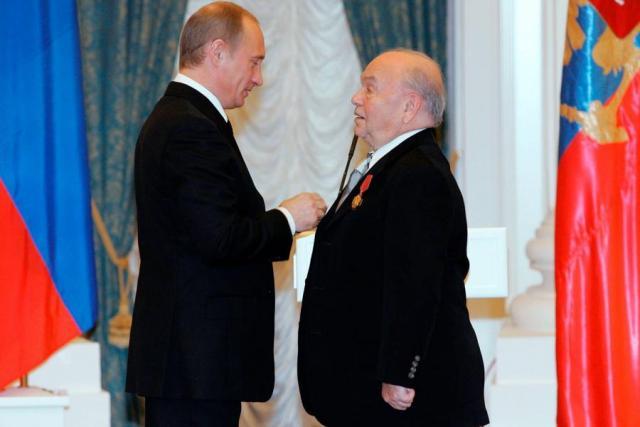 Владимир Шаинский и Владимир Путин