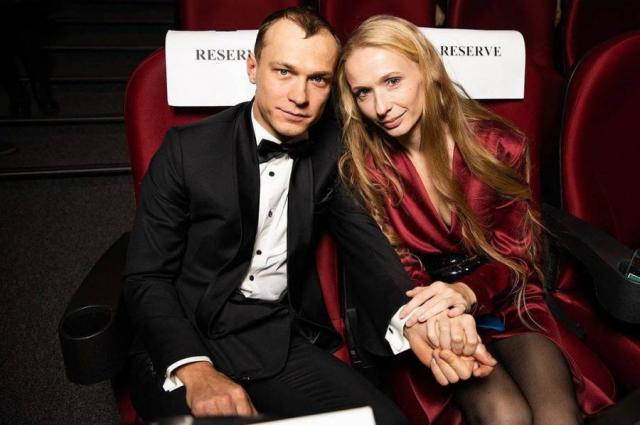 Анна Шевчук с мужем