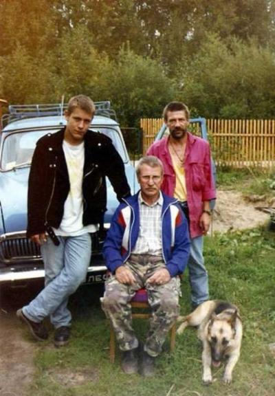 Андрей Краско с сыном Кириллом и отцом