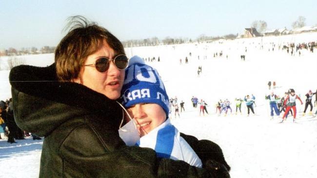 Елена Вяльбе с сыном