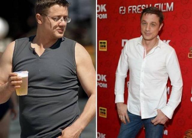 Алексей Макаров до и после похудения