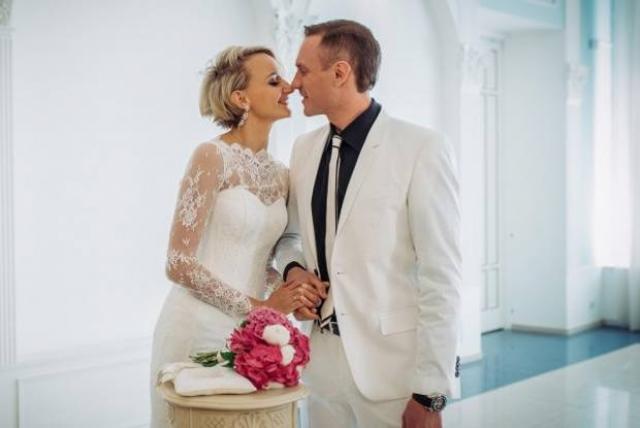 Оксана Домнина с мужем
