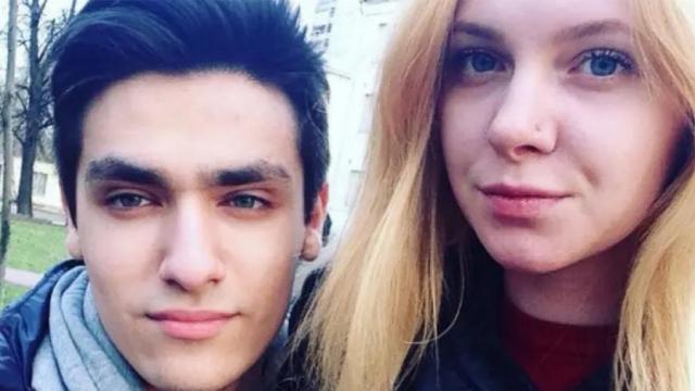 Олег Шепс с девушкой