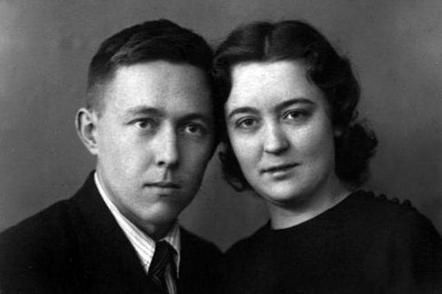 Солженицын с Наташей Решетовой