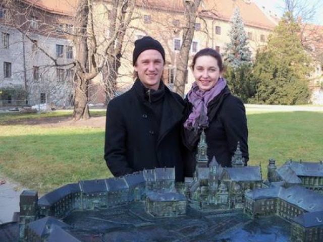 Вероника Исаева с мужем