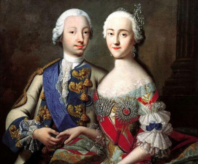Петр III с супругой