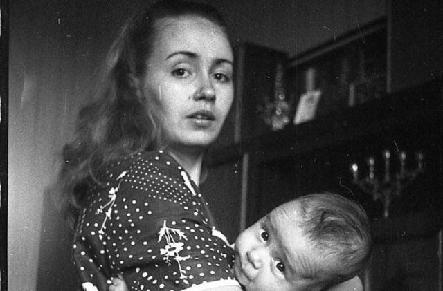 Петр Федоров с мамой