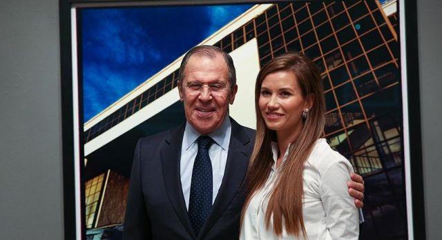 Сергей Лавров с дочерью
