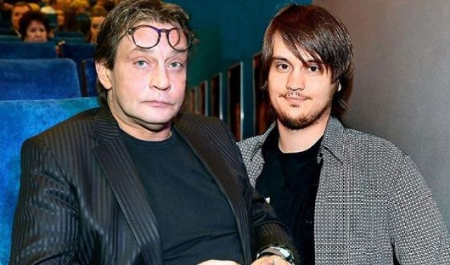 Александр Домогаров с сыном