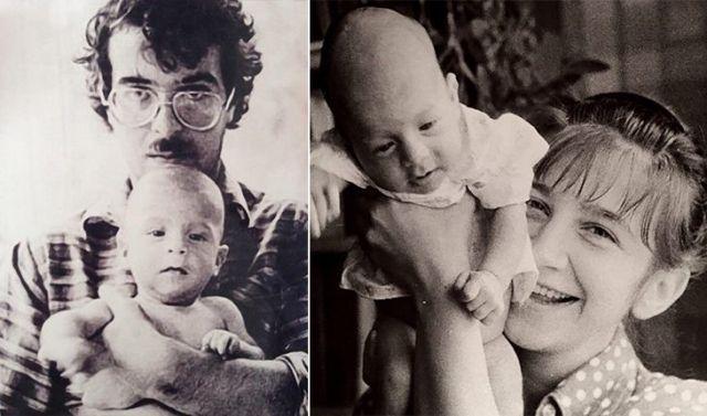 Андрей Ургант с первой женой и сыном Иваном