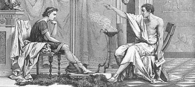 Аристотель и Македонский