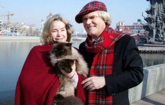 Юрий Куклачев с женой