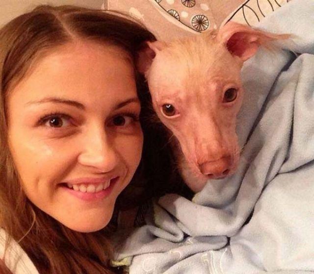 Татьяна Казючиц с собачкой