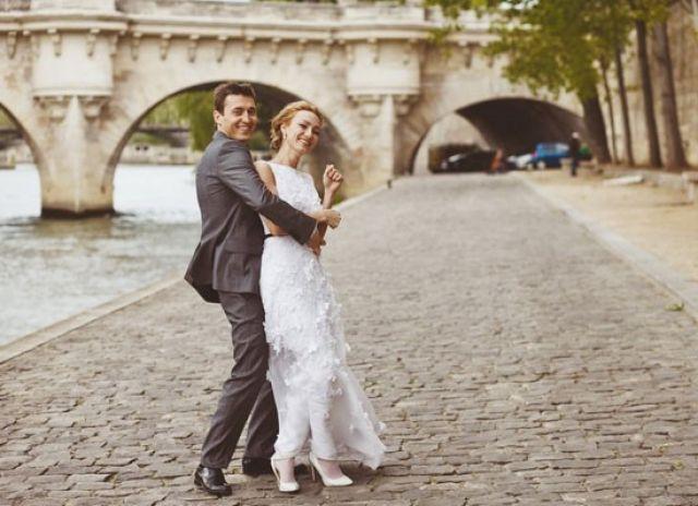 Александр Легков с женой