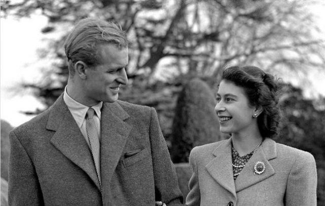 Елизавета и Филипп в первые годы брака