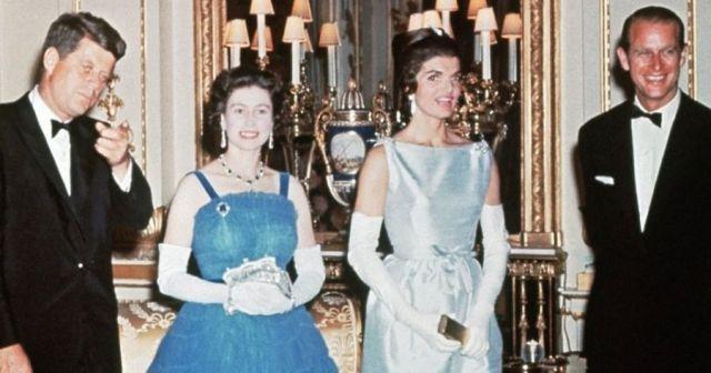Встреча супругов Кеннеди с королевой Великобритании
