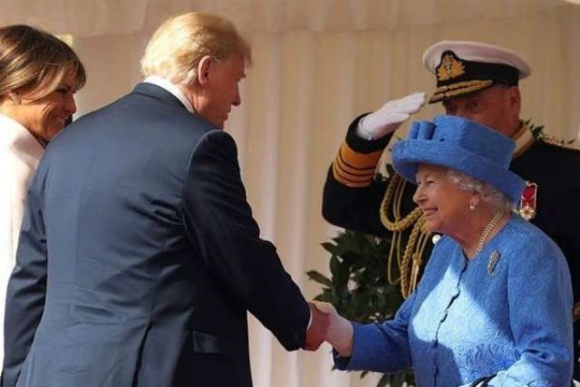 Визит Дональда Трампа в королевский дворец