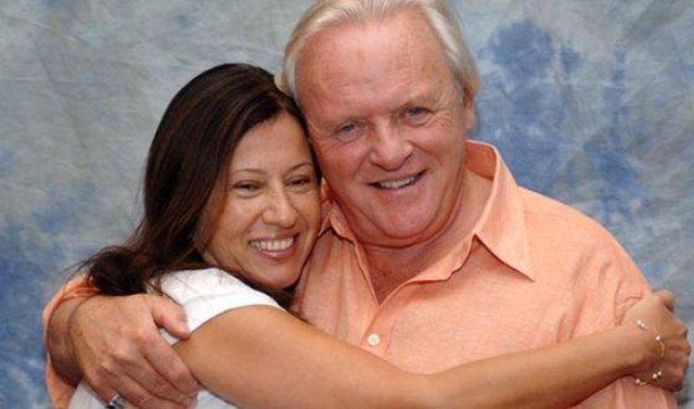 Энтони Хопкинс с женой