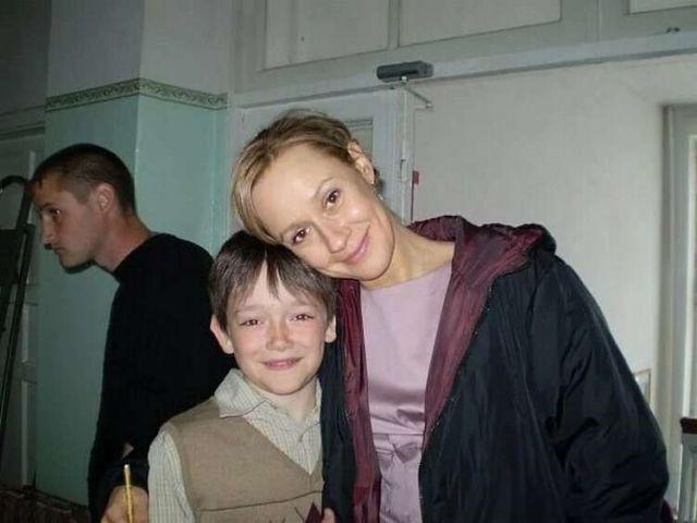 Евгения Дмитриева с сыном