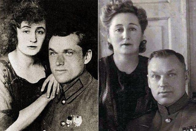 Рокоссовский и его жена Юлия Бармина