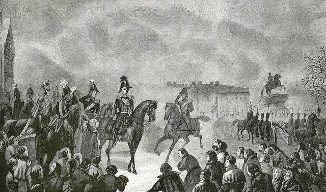Николай I на Сенатской площади