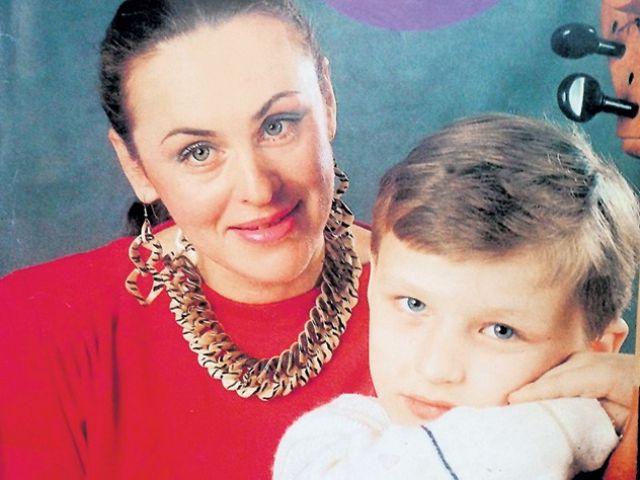 Алла Данько с сыном Василием