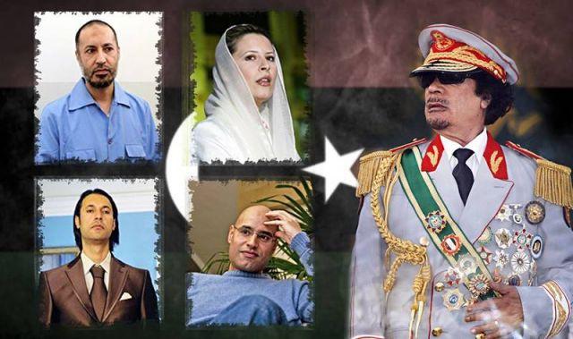 Муаммар Каддафи и его дети