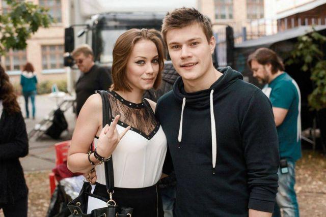 Олег Гаас с супругой