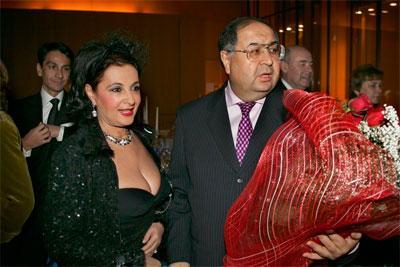 Алишер Усманов и Ирина Винер