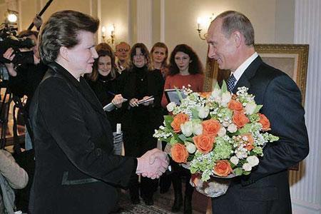 Терешкова и Путин