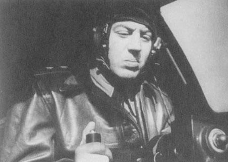 Василий Сталин в самолете